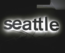 Reklameschild Seattle